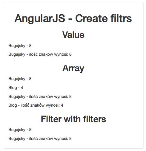 AngularJS- Własne filtry aplikacja